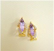 04300 - Amethyst Gold Earrings (EG2962-AMY)