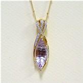 02301 - Amethyst Gold Pendant (PG2961-AMY)