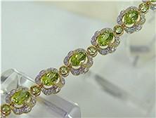 01300 - Peridot Gold Bracelet (BG2866-PERIDOT)