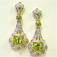 Peridot Gold Earrings (EG2871-PERIDOT)