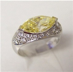 10440 - Canary CZ Marquise ring (R6508CY-WG)